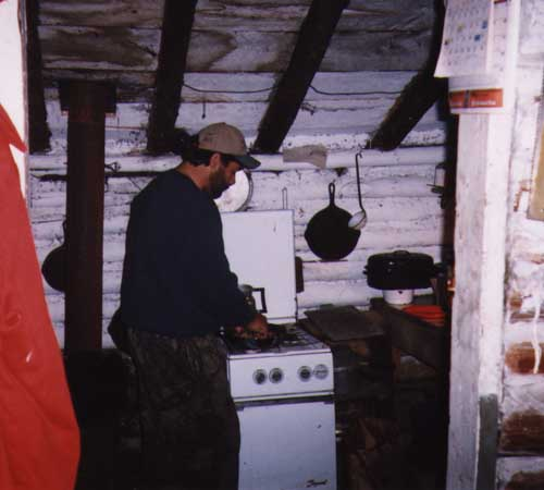 a chef at the gas stove